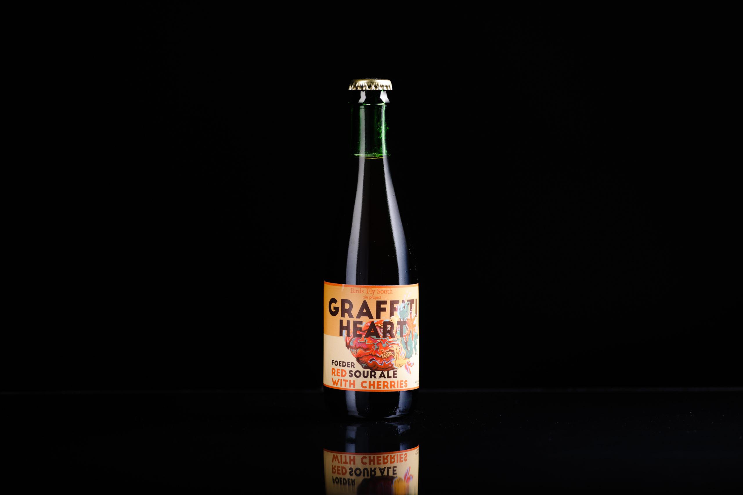 graffiti heart beer