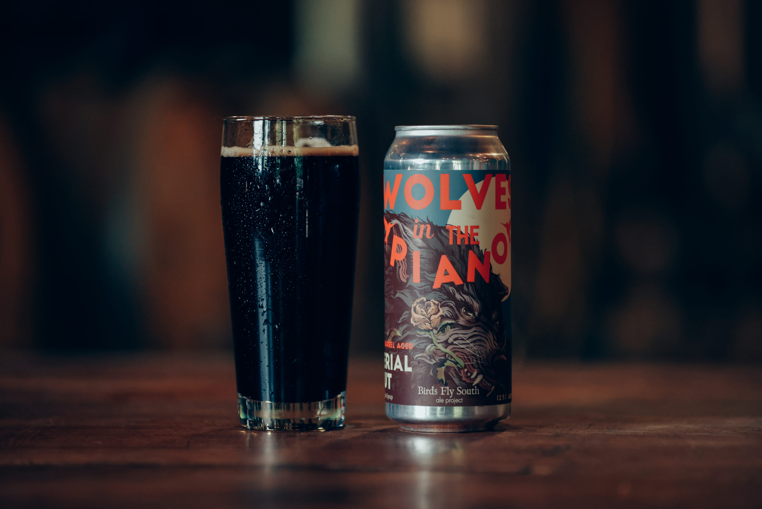 wolves in the piano barrel aged stout